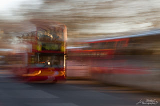 bus, London, abstract