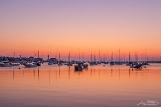 Nantucket, boats, harbor, dawn