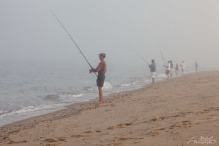 Nantucket, fishing, fog, beach, surfcasting