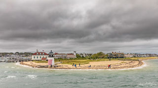 harbor, lighthouse, Brant Point, storm, wind, cloudy