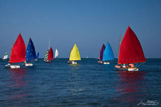 Nantucket, boats, sailing, Rainbow Fleet, colorful, Race Week