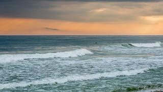 surfer, waves, sunset, beach, Nantucket, ocean