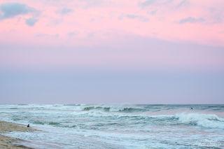beach, wave, pastel, sky, ocean, surf