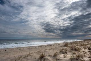ocean, water, beach, clouds