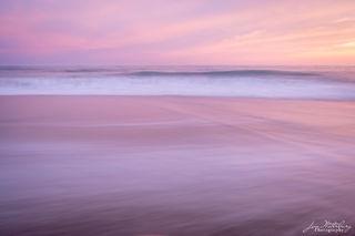 pink, sky, surf, beach, ocean