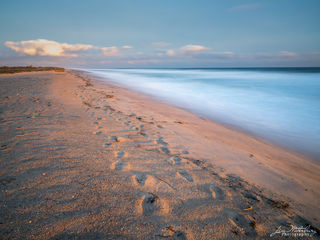 beach, sand, sun, ocean, seascape. footprints