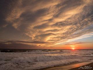 sun, clouds, ocean, seascape