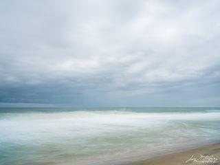 ocean, seascape, clouds, beach
