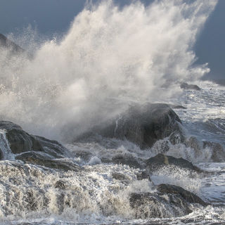 Iceland, ocean, surf, rocks