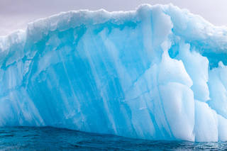 Antarctica, iceberg, blue, snow, ice, brown bluff