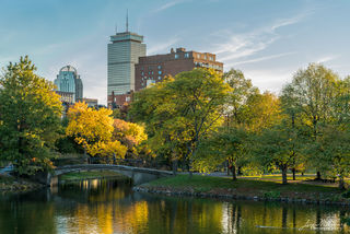 fall, Boston, Charles River, Prudential Center, Massachusetts
