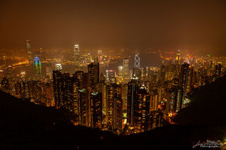 Hong Kong, night, Victoria Peak