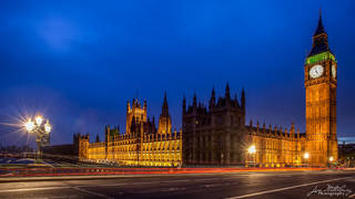 Big Ben, Westminster, Houses of Parliament, Clock Tower, night