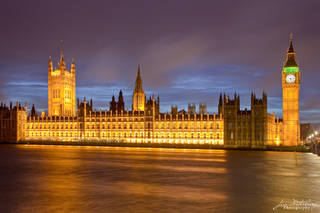 Westminster, London, night sky, illuminated