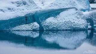 ice, iceberg, snow, Jokulsarlon, glacier, lagoon, triangle, shapes