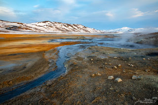 geothermal, gold, winter, Iceland