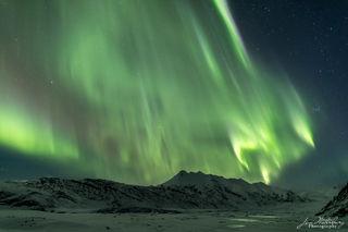 northern lights, aurora borealis, stars, mountains, frozen, Iceland