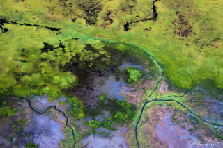 Ariel, marshes, waterways, Lake Clark, Alaska