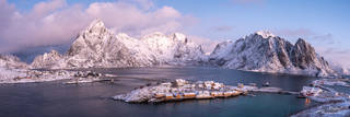 Sakrisoy, Lofoten, Norway, winter
