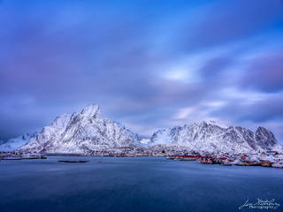 Reine, winter, Lofoten, Norway, dusk