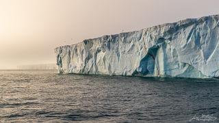 Arctic, Europe, Norway, Svalbard, ice, ice cap, Austfonna, fog