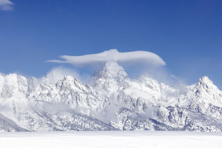 Grand Teton National Park, United States, Teton mountains, winter, snow