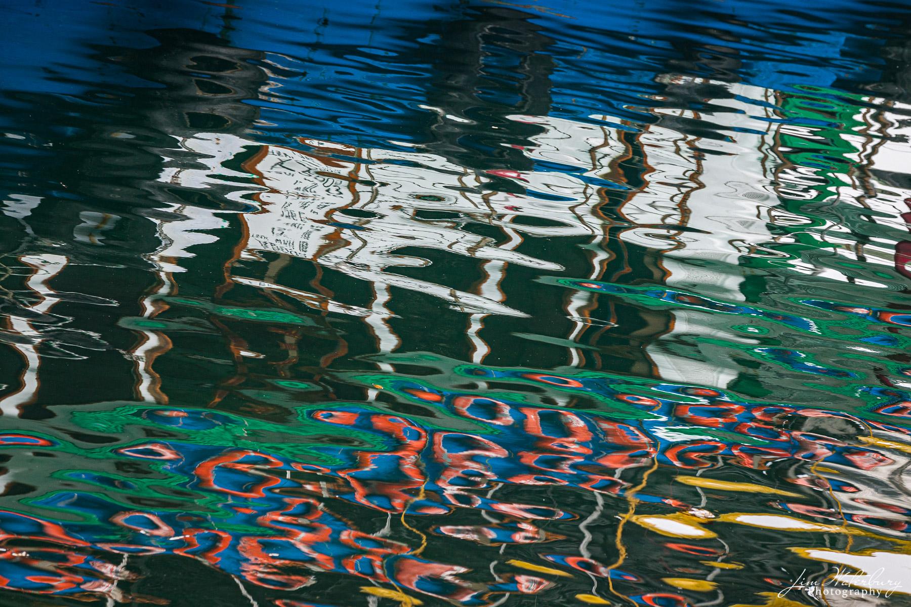 reflections, boats, Sai Kung, Grass Island, Hong Kong, photo