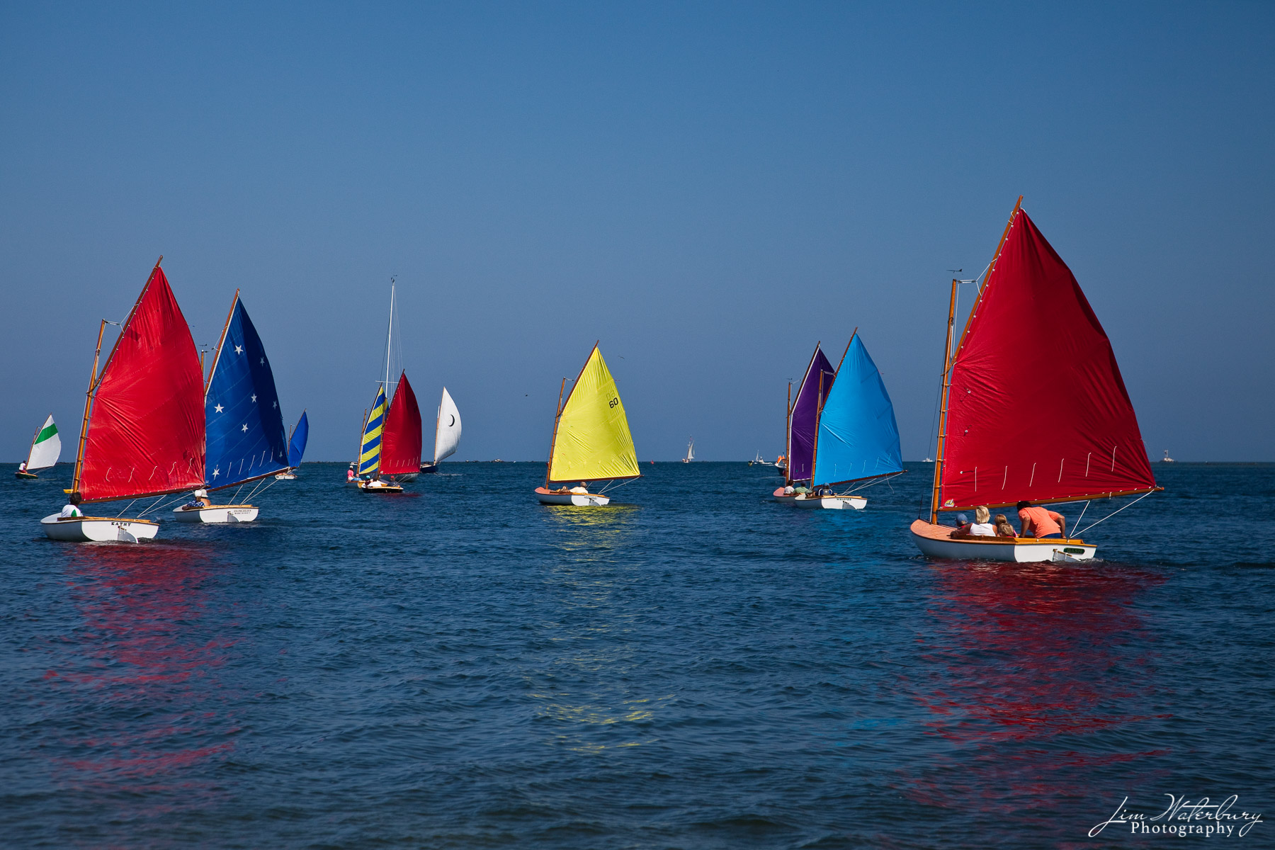 Nantucket, boats, sailing, Rainbow Fleet, colorful, Race Week, photo