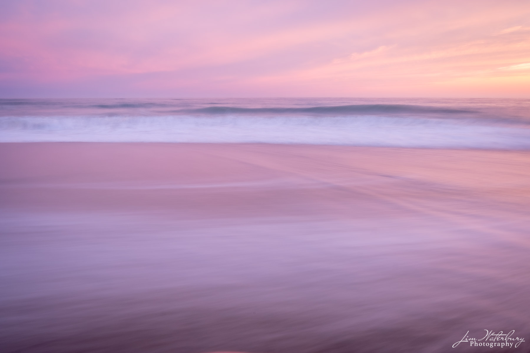 pink, sky, surf, beach, ocean, photo