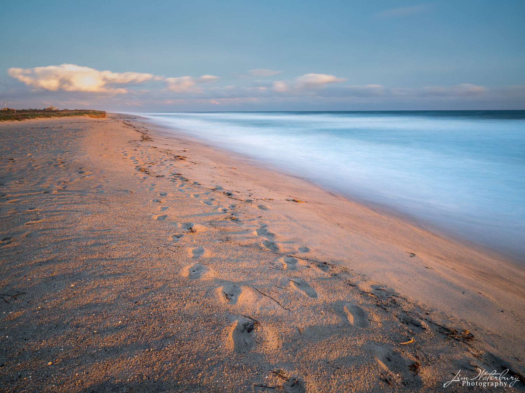beach, sand, sun, ocean, seascape. footprints, photo