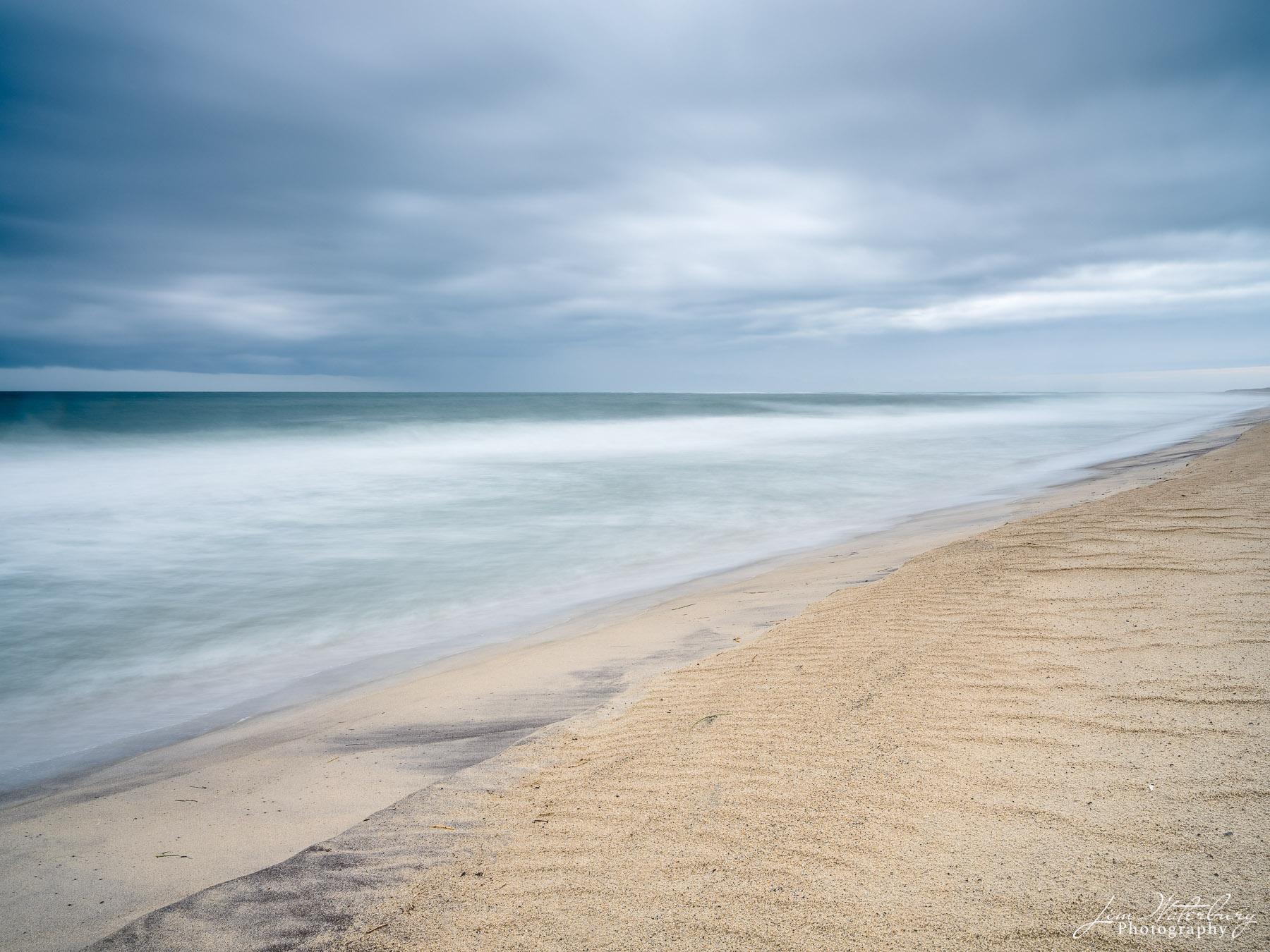 seascape, ocean, gray skies, long exposure , photo