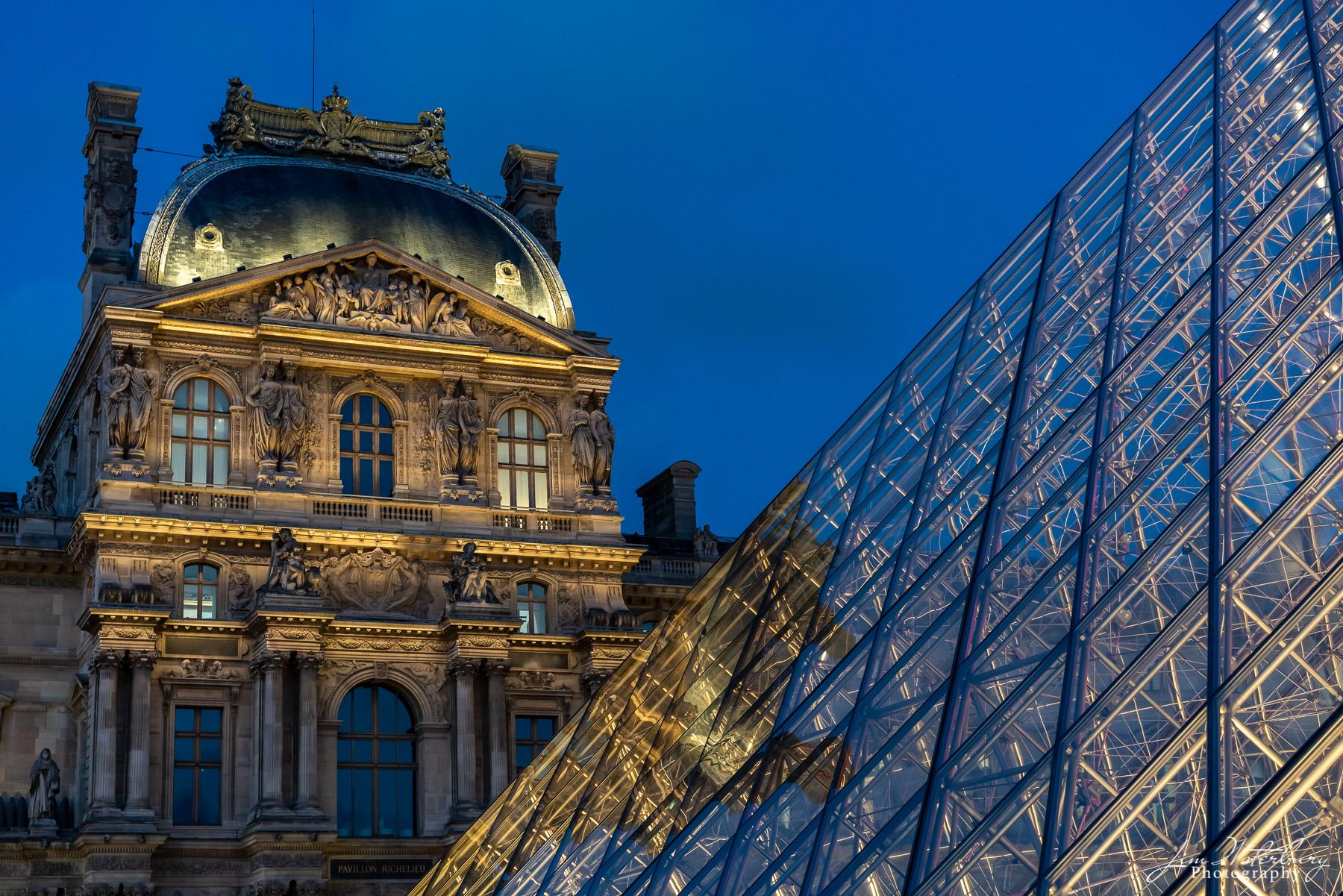 Paris, Louvre, palais du louvre, pyramid, windows, photo
