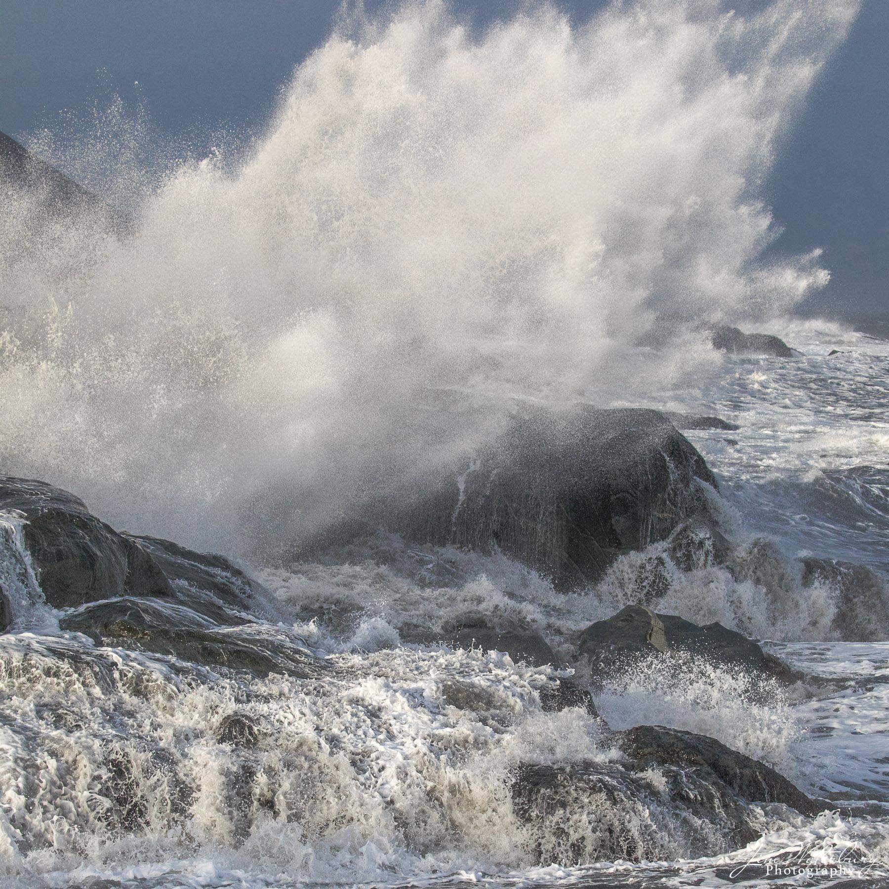 Iceland, ocean, surf, rocks, photo
