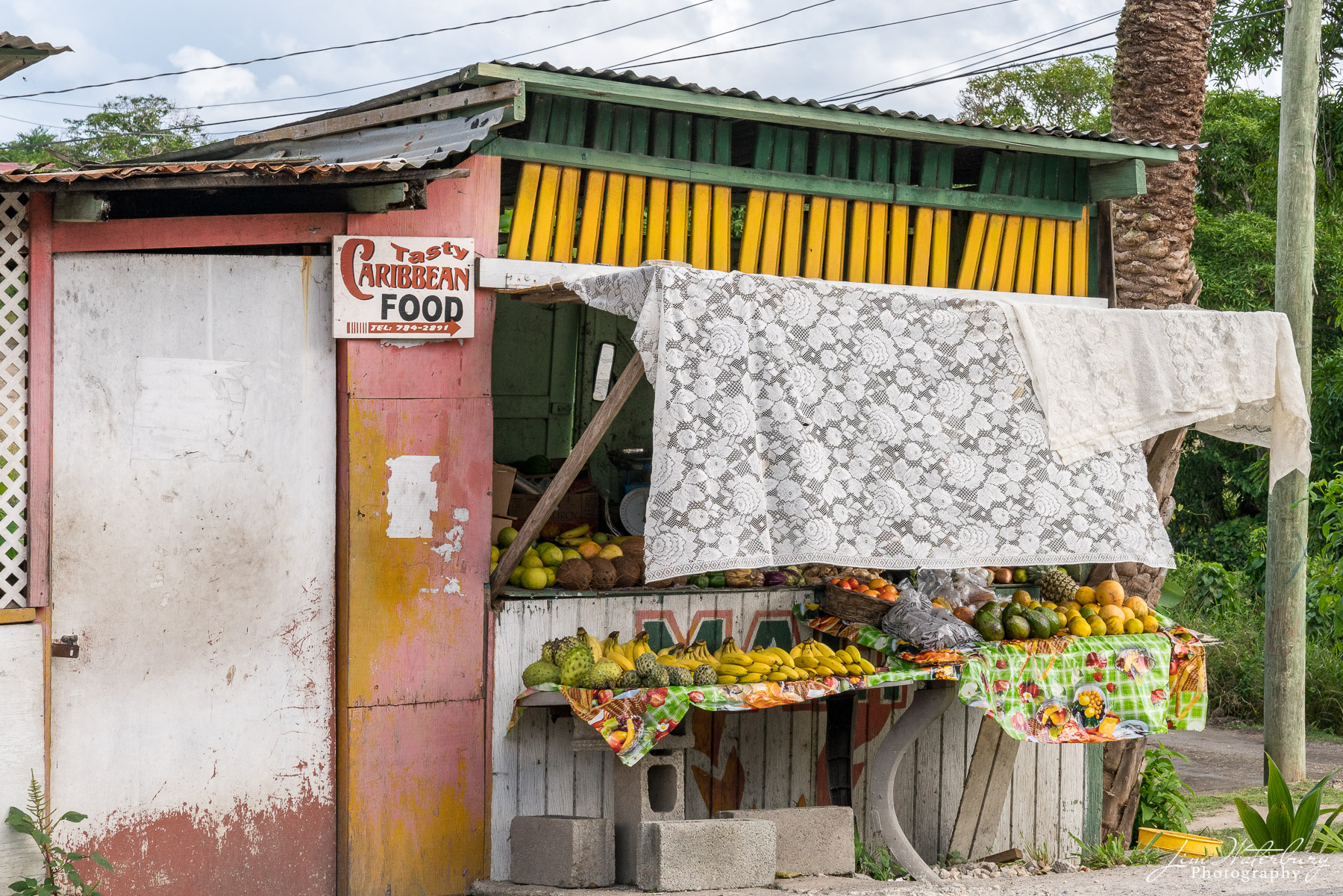 Antigua, food stand, St. Philip Parish, photo