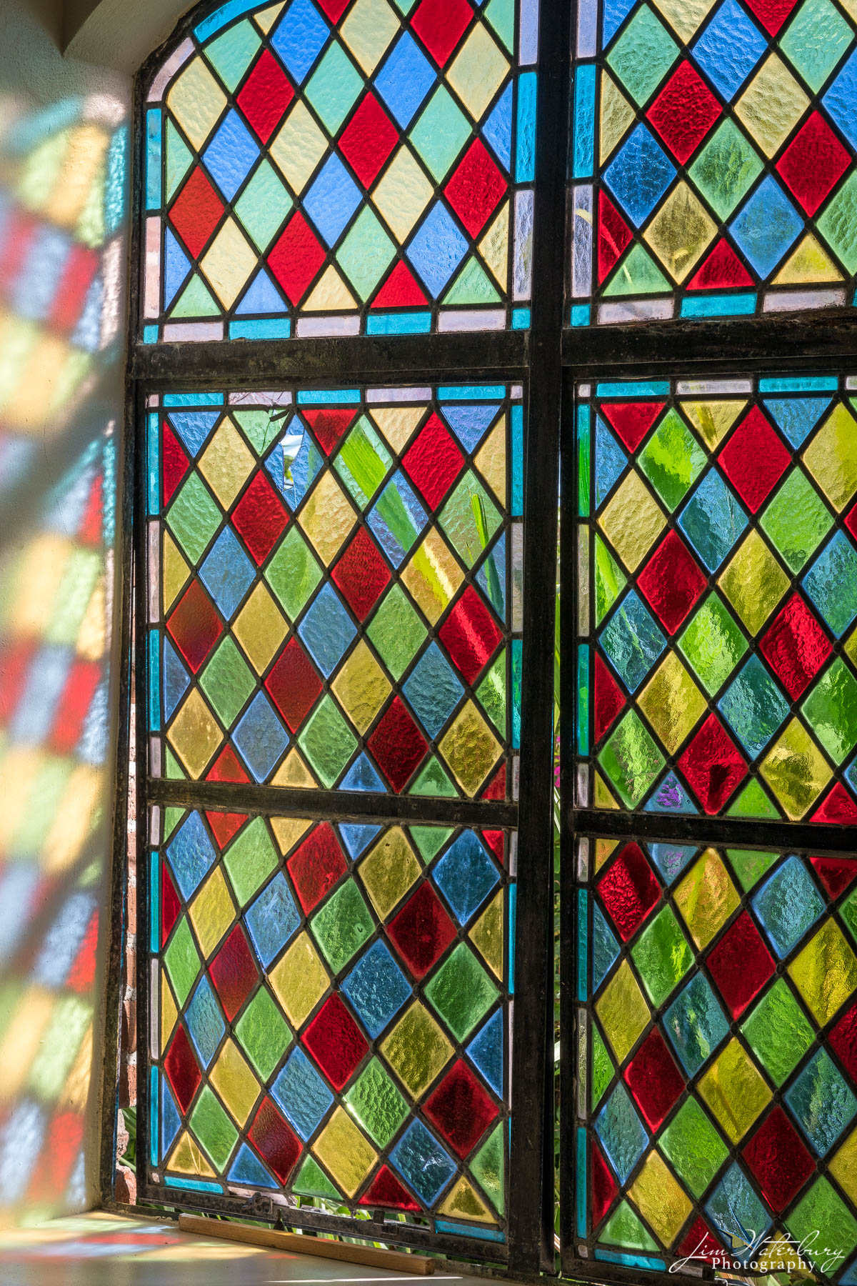Antigua, Antiguan life, chapel, stained glass, window, photo