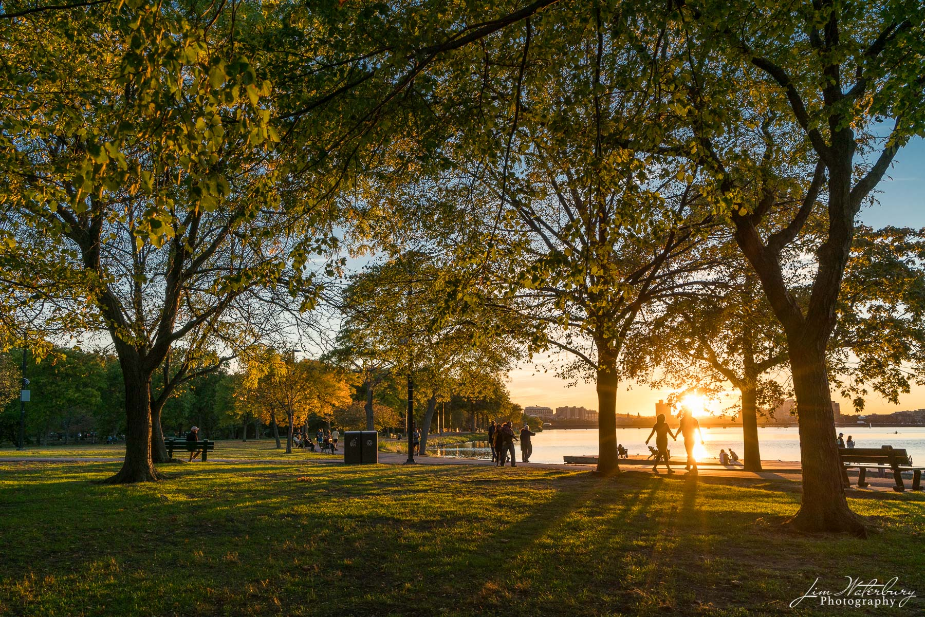 Boston, Charles River, sunset, fall, photo