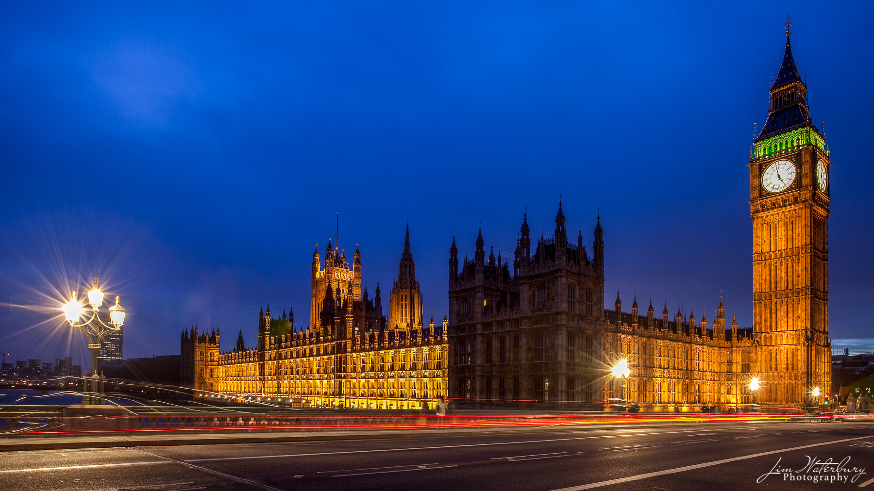 Big Ben, the Clock Tower (now the Elizabeth Tower) and the Palace of Westminster in London, at night.