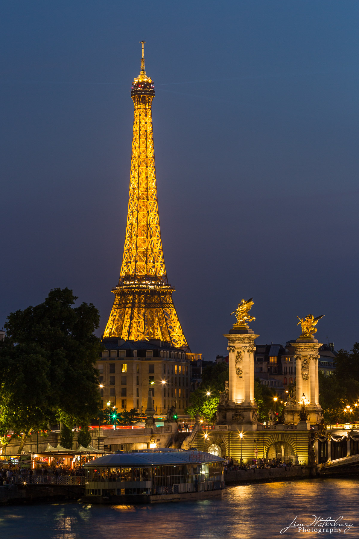 Eiffel Tour, Tour Eiffel, Paris, France, illuminated, night, icon, photo