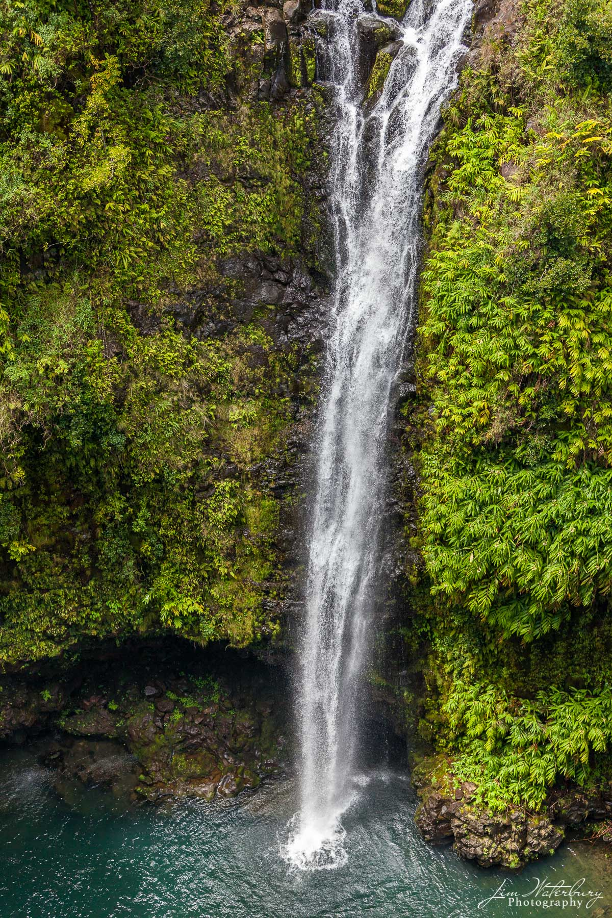 Hawaii, Maui, waterfall, helicopter, photo