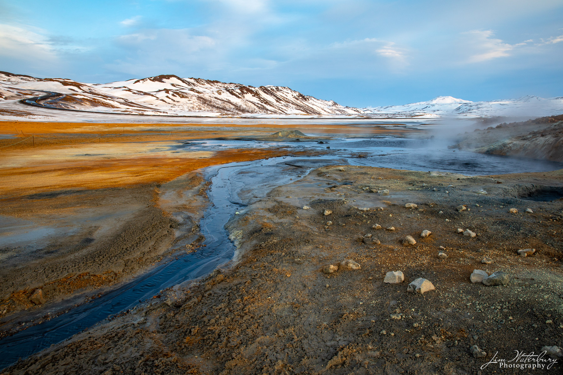 geothermal, gold, winter, Iceland, photo