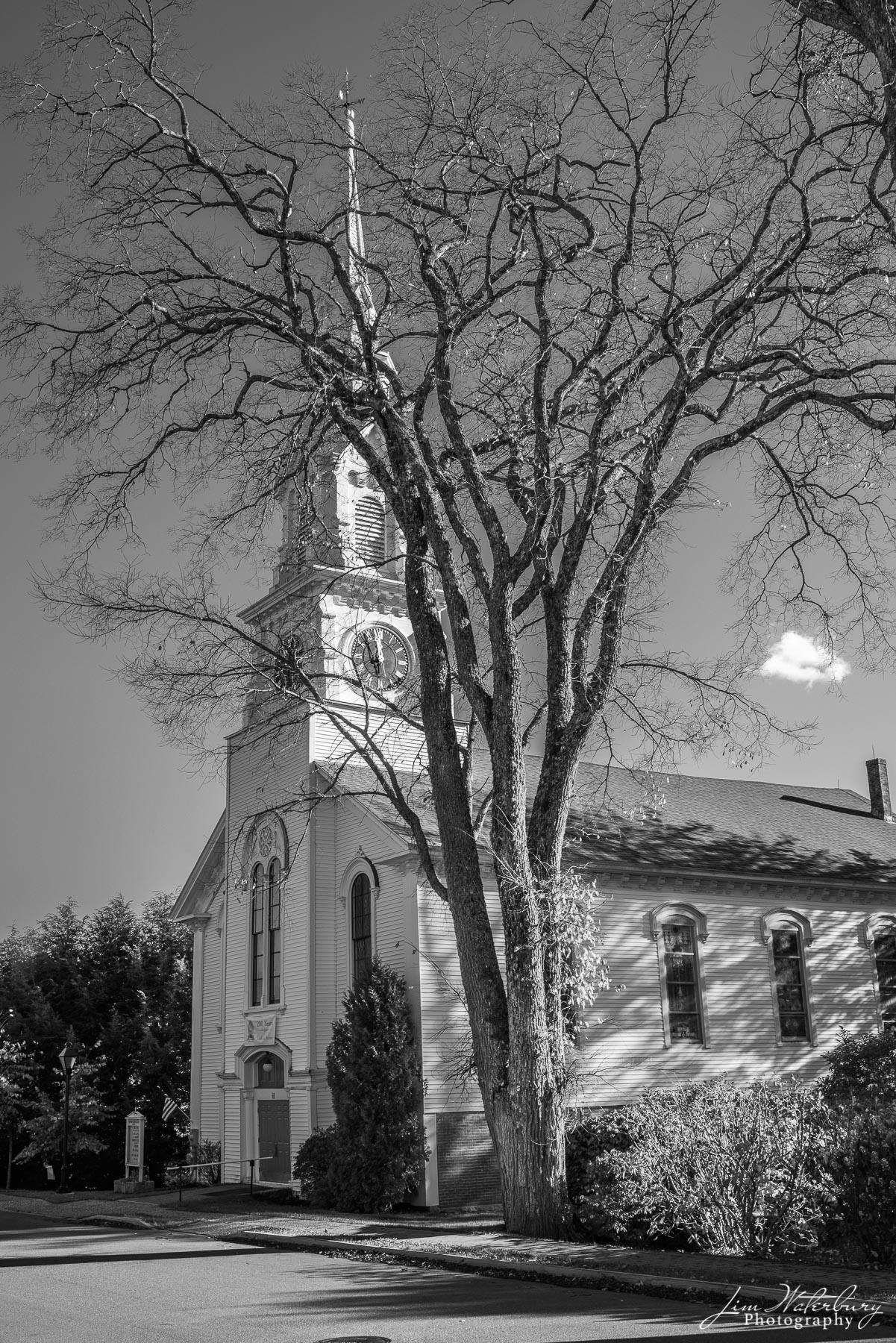Trinitarian Congregational Parish of Castine, in black and white.