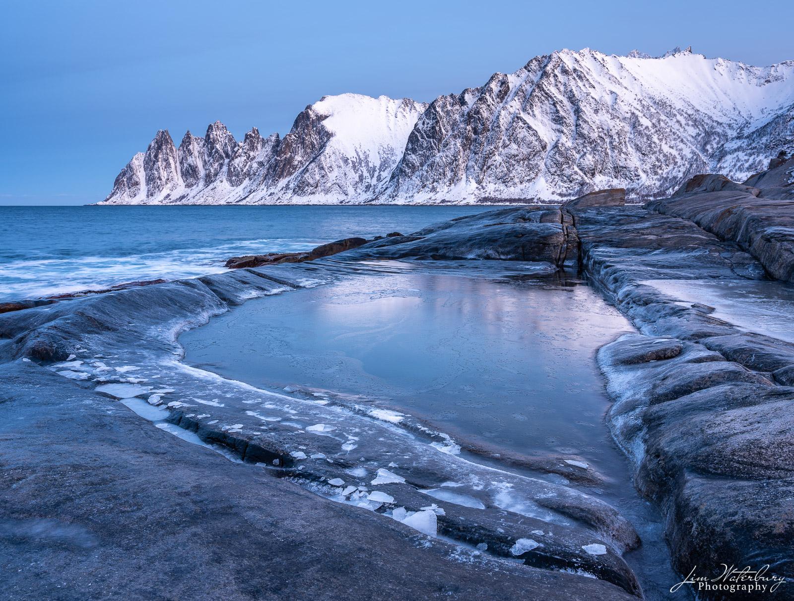 Tungeneset, Senja, Lofoten Islands, Norway, early morning shoot from rocky viewpoint