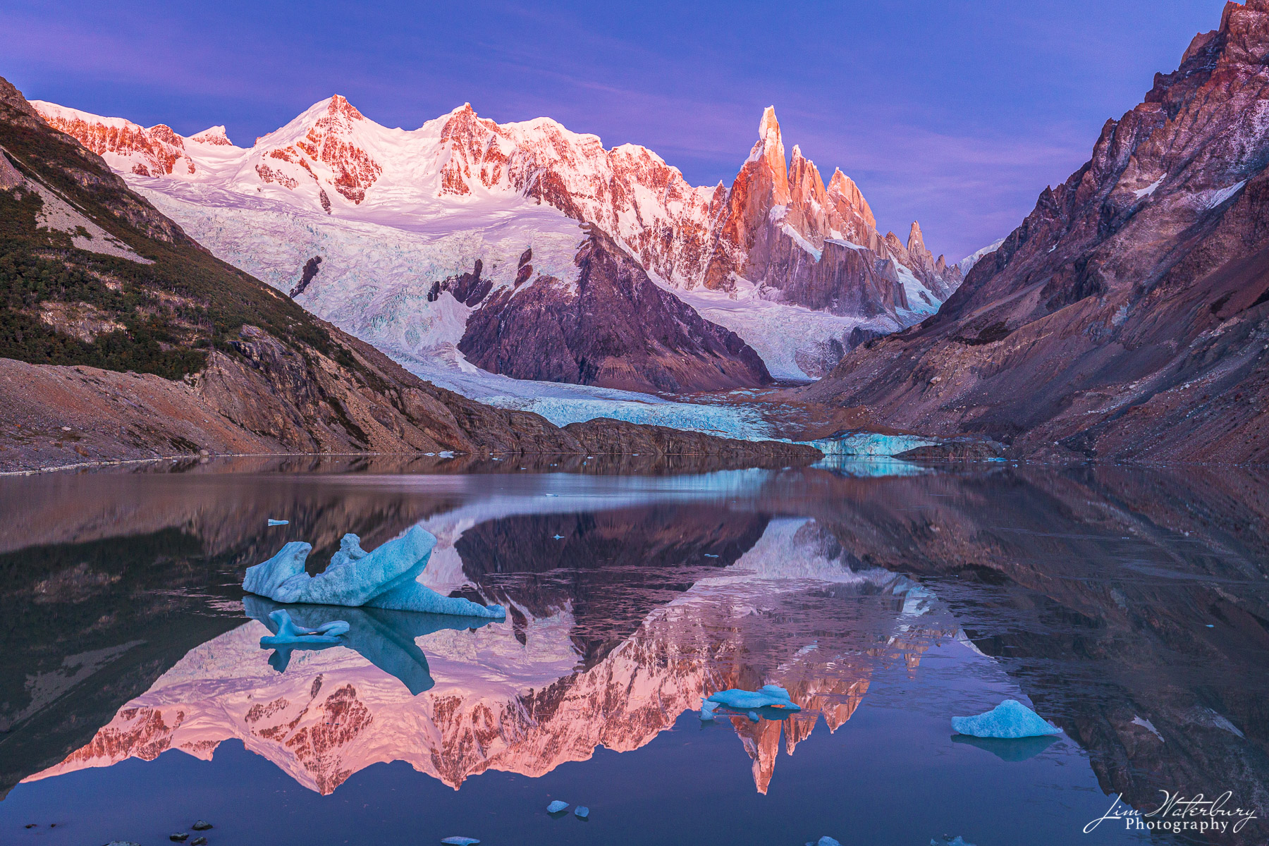 Cerra Torre, Patagonia, reflection, Lago Torre, sunrise, photo