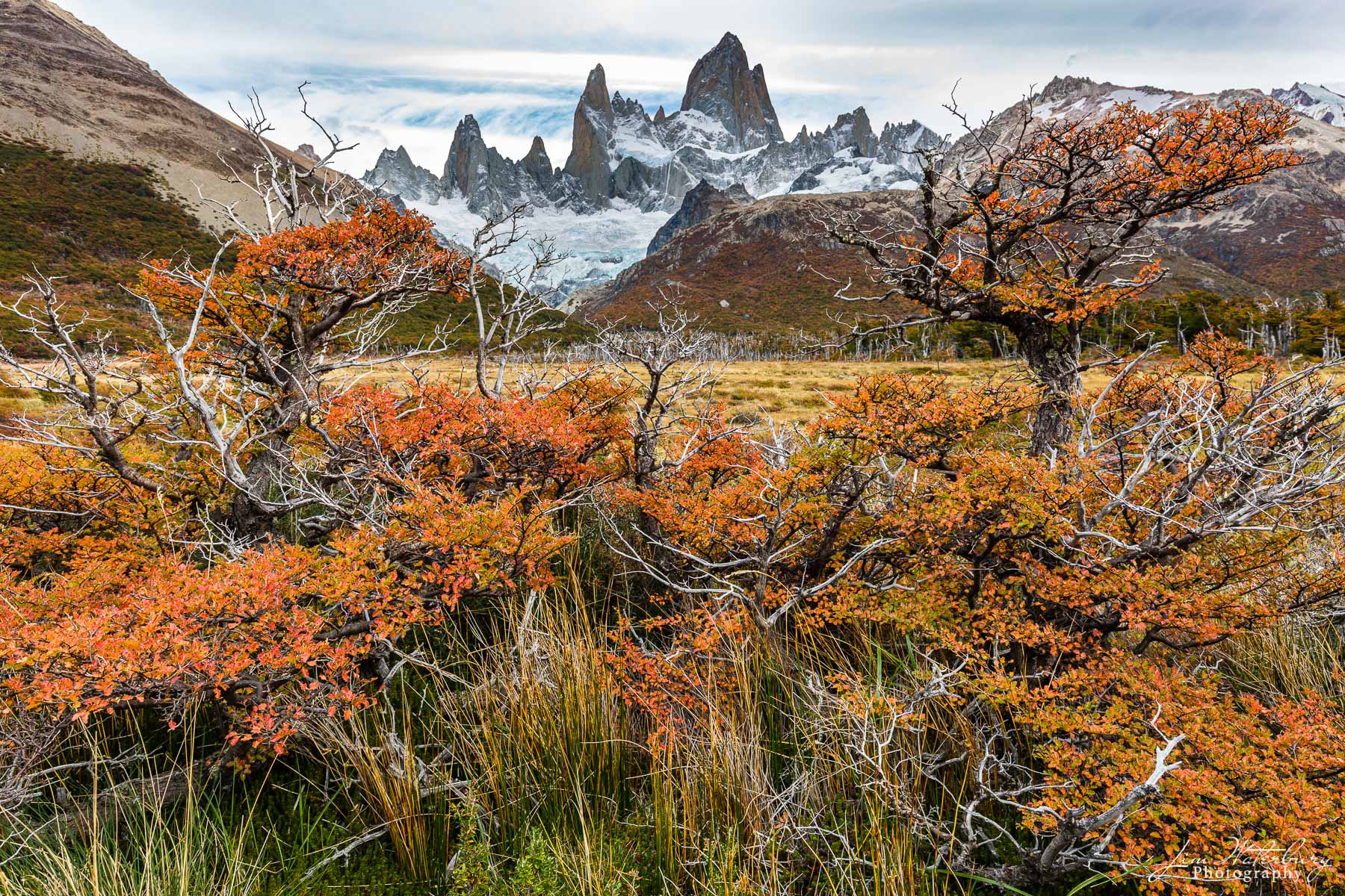 Fitz Roy, Los Glaciares, Argentina, Patagonia, fall, colors, orange, photo