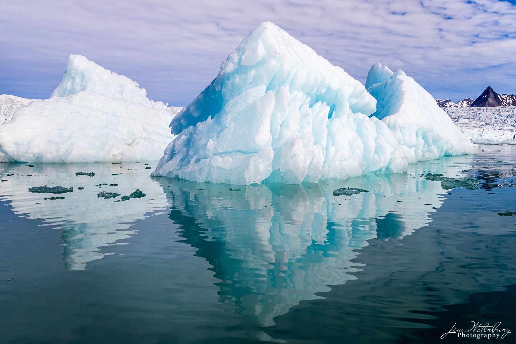 ice, iceberg, glacier, Spitsbergen, Svalbard, fjord, photo