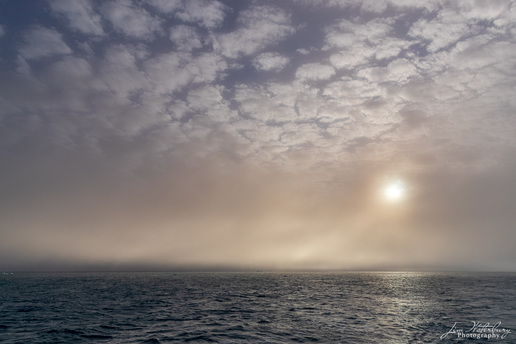 sun, mist, haze, high arctic, Svalbard, photo