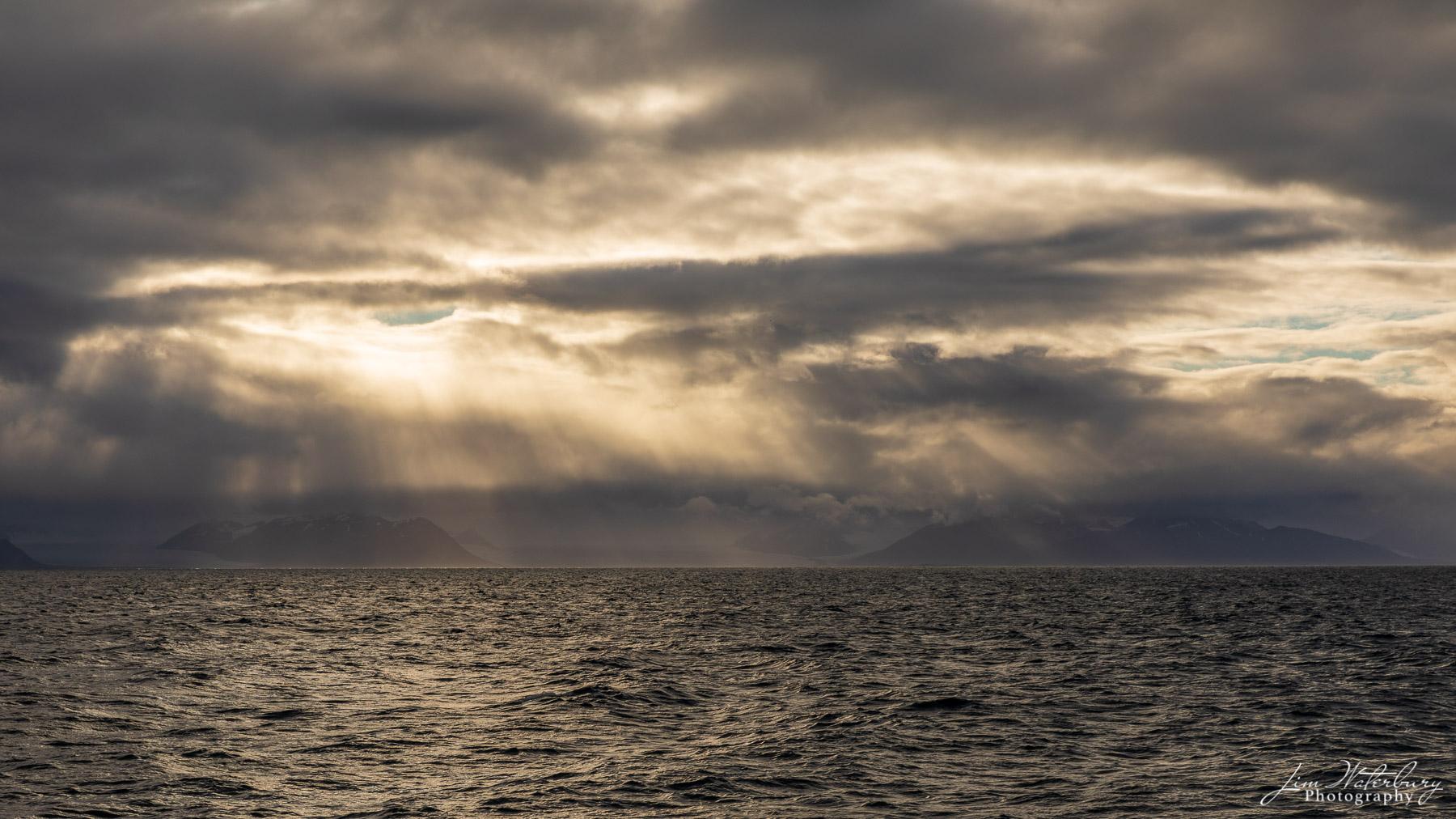 storm, clouds, mountains, Spitsbergen, Svalbard, photo