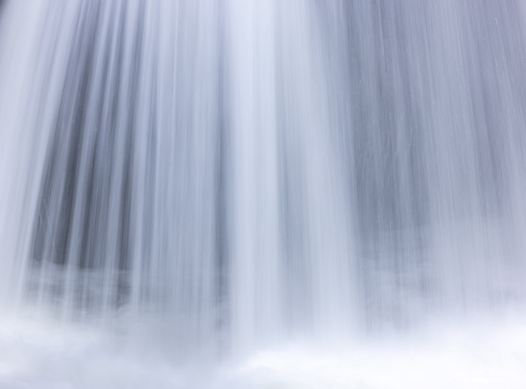 Long exposure of water flowing over the Upper Cascades Falls just west of Yosemite Valley