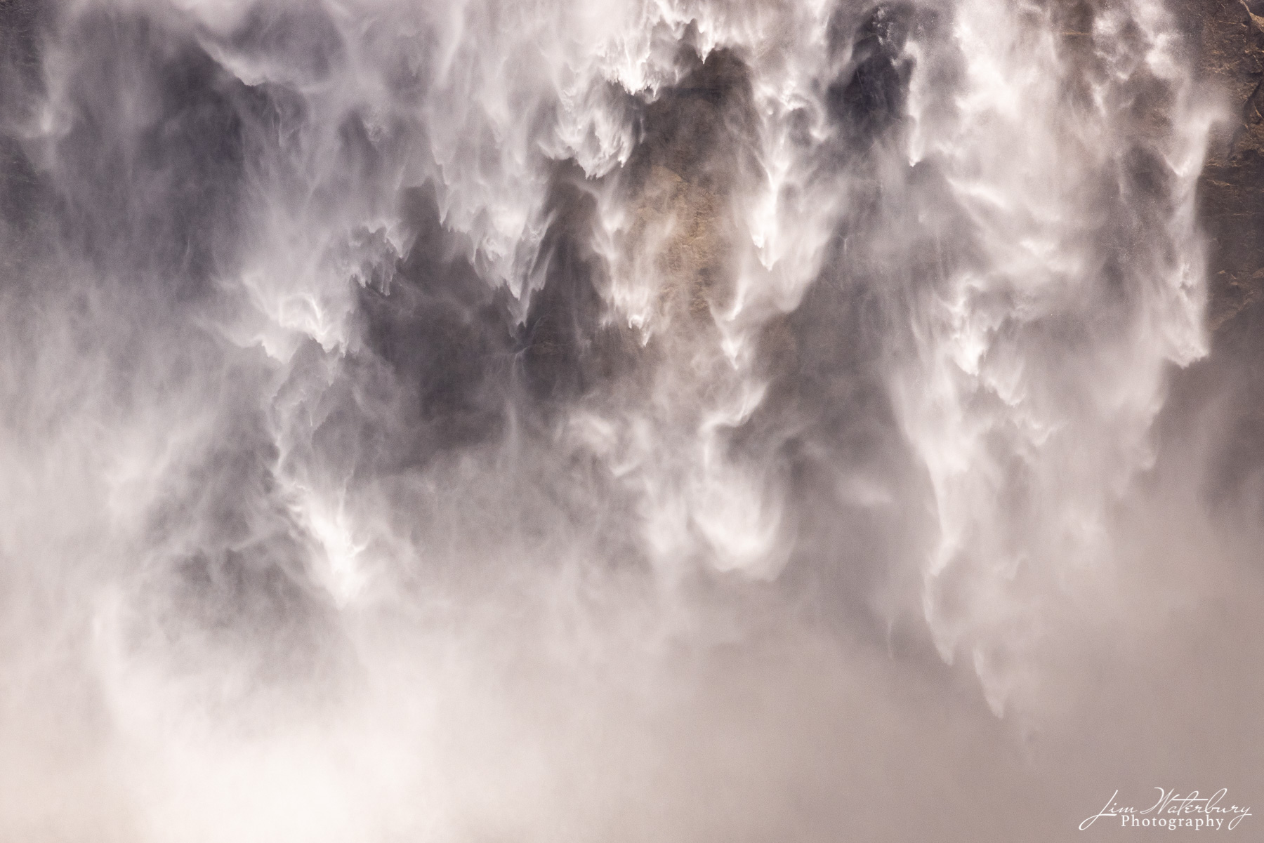 Abstract detail of mist and spray, Upper Yosemite Falls